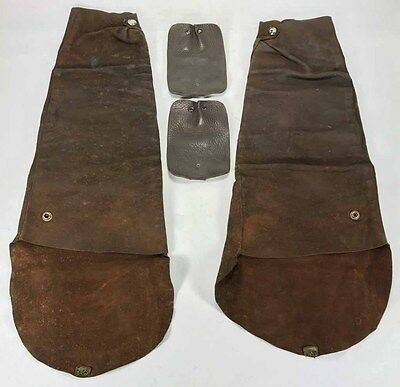 Vintage Leather Welding Welders Sleeves Set & Shoe Lace Foot Protectors
