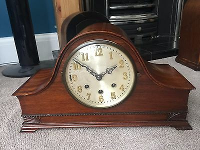 German Dual Chiming Westminster & Whittington Chime Mantle Clock Edwardian Deco