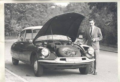 1968 ? Citroen DS Station Wagon & Priest in Europe ORIGINAL Photograph wy3242