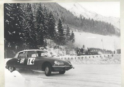 1971 Citroen DS in Winter Rally ORIGINAL Factory Photograph wy3266
