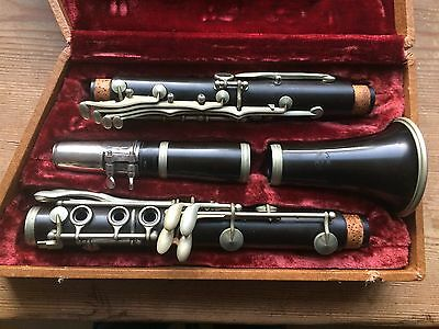 Vintage G.L. Otterol Wood -Bb Clarinet Made in Paris