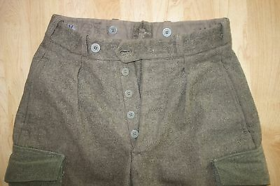 50s Vintage 1955 Swedish Wool Military Breeches Cargo Pants Sweden Army