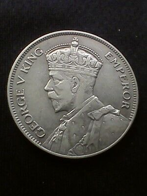 1935 New Zealand Half Crown KM#5 - Silver Coin