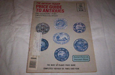 "The Antique Trader Price Guide To Antiques  ""souvenir Plates"" (June, 1988)"
