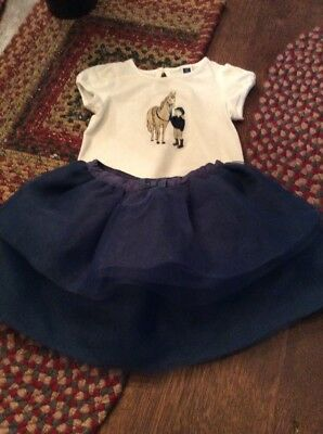 Janie And Jack Baby Girls Skirt And Top..size 6-12 Months
