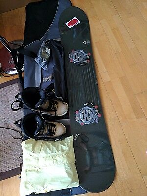 Snowboard + Boots + Binding + Bag + Goggles + Jacket + Gloves