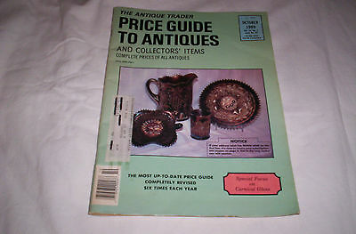 "The Antique Trader Price Guide To Antiques -""carnival Glass"" (October, 1989)"