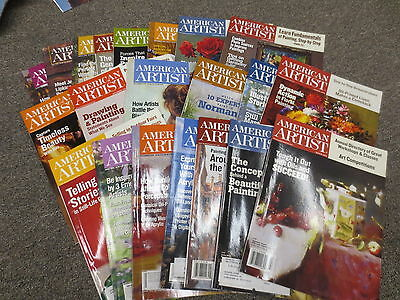 Huge lot of American Artist Magazines issues starting at 2002