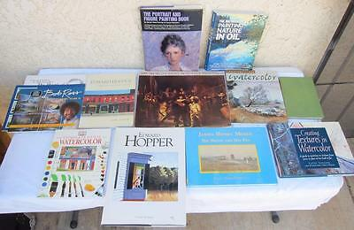 Lot of 13 Art Books for Learning & Studying Sketching Painting Oil Watercolor F