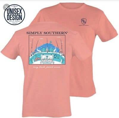New Simply Southern Unisex My Back Porch View Tee Medium
