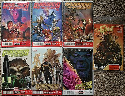 Guardians of the Galaxy Lot (2013 3rd Series) 1A, 2, 3, 7, 9 + Groot #1 Variant • $9.95