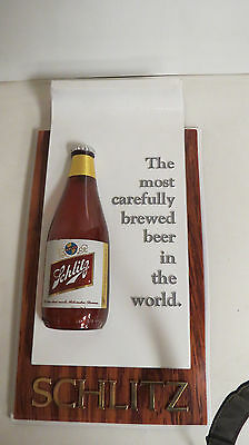 Schlitz beer sign With single bottle