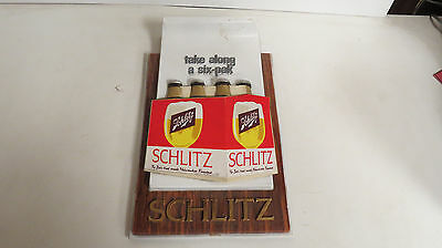 Schlitz beer sign With six pack