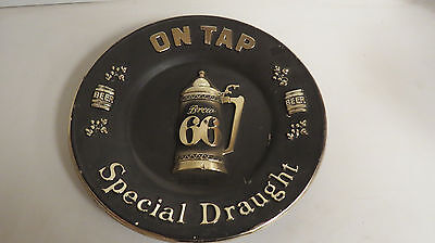 Rainier Brew 66 beer special draught on tap plastic sign