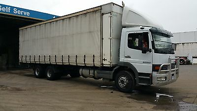 2003 Mercedes Atego curtainside tautliner 14 pallet manual truck 6×4