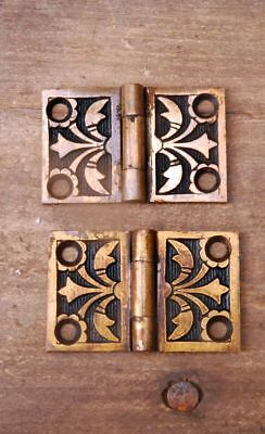 "Antique Victorian Shutter Hinges 1-1/4"" X 2"" W Cast Bronze  AH02131702"