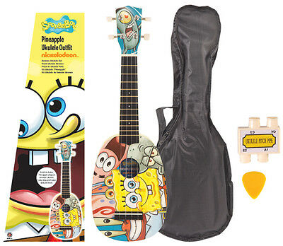 Spongebob Squarepants Pineapple Uke Ukulele Pack To Clear !