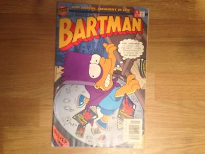 BONGO Group Comics BART SIMPSON ARCHENEMY OF EVIL BARTMAN #1 COMIC No 1