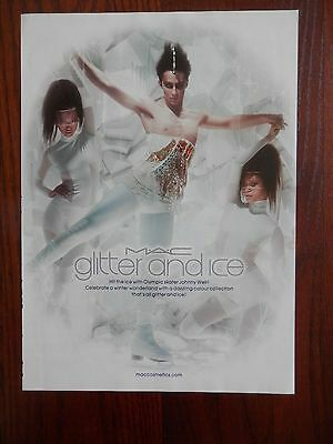 """Print Ad, Mac Cosmetics, Johnny Weir, Olympic Skater, """"Glitter and Ice"""""""