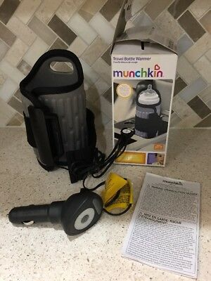 Munchkin Travel Baby Bottle Warmer. 12V Car Auto Heater Portable Drink Milk Food