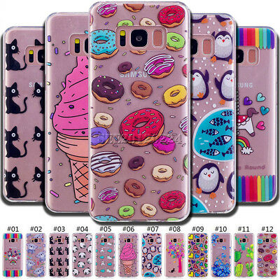 For Samsung Galaxy Shockproof Skin Silicone TPU Protective Soft Back Case Cover