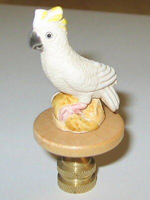 White Cockatoo Parrot Lamp Finial, lamp topper, new