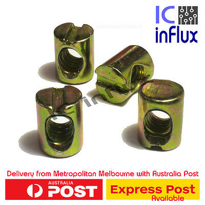 4 x M6 Barrel Nut Bolt Cross Dowel Slotted Furniture Nut Beds Crib Chairs Ikea