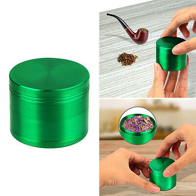 Magnetic Tobacco Herb Spice Grinder 4 Piece Herbal Alloy Smoke Crusher -Aqua