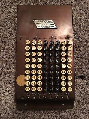 Antique Comptometer Mechanical Calculator  1914 - Great Working Condition