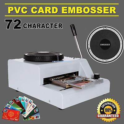72 Character Letters Embossing Machine Manual Embosser PVC VIP Card Stamping