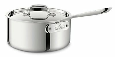 All-Clad 4203 Stainless Steel Tri-Ply Bonded Dishwasher Safe Sauce Pan with