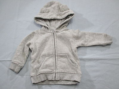 Target Boys Size 000 Hoodie, grey jacket zipper front jumper casual basic cute
