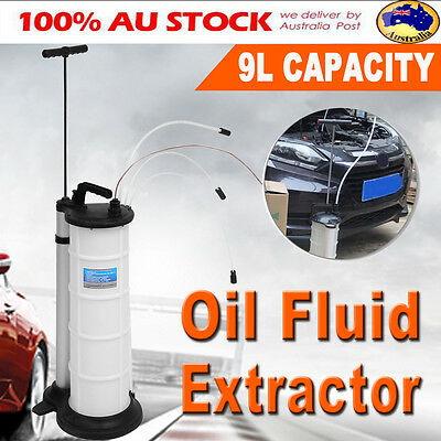 9L Oil Fluid Extractor Pump Manual Suction Vacuum Fuel Car Boat Transfer Tank