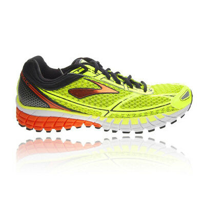 Brooks Aduro 4 Mens Yellow Cushioned Running Sports Shoes Trainers Pumps