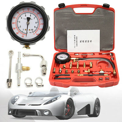 114 Car Fuel Injection Pump Gasoline Tester Manometer Pressure Kit Gauge Tool