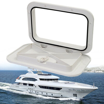 Plastic Watertight Marine Boat Caravan Deck Compartment Access Hatch Plate White