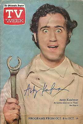 """Andy Kaufman """"Taxi"""" Hand Signed, Non Inscribed Autographed Photo"""