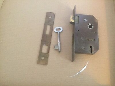 vintage Harrison 6 Lever lock, With Key