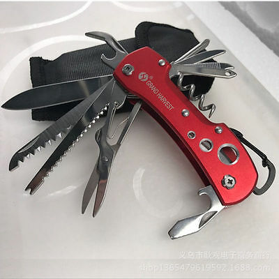 New Stainless Steel Multi Function Flick Knife Camping Hiking Pocket Multi-Tools