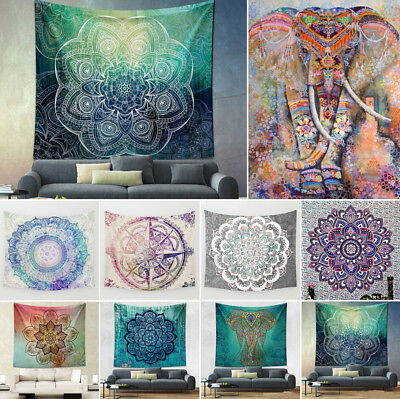 AU Floral Tapestry Wall Hanging Bohemian Hippie Bedspread Throw Towel Blanket