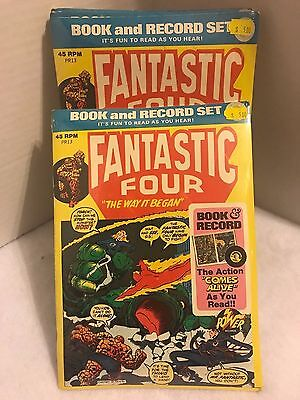 Fantastic Four Book and Record Set (1974 Power Records) New In Package