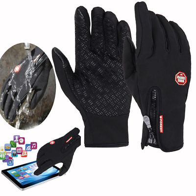 Winter Cycling Bicycle Warm Windproof Waterproof Touchscreen Full Finger Gloves