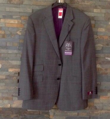 M&S Mens Pure Wool Sartorial 2 Button Pure Wool Grey Blazer/Suit Jacket 42 Chest