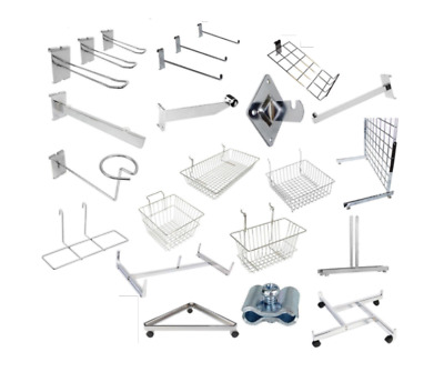 Grid Wall Mesh Chrome Retail Shop Display Panel Accessory Arms