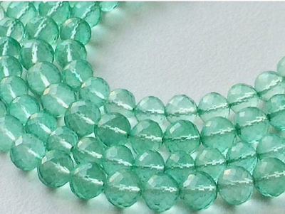 """8"""" Strand Crystal Quartz Beads, Coated Round Beads, Micro Faceted Crystal Quartz"""