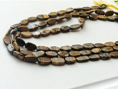 """14"""" Strand Tigers Eye Beads, Tigers Eye Smooth Oval Beads, Tigers Eye Necklace"""