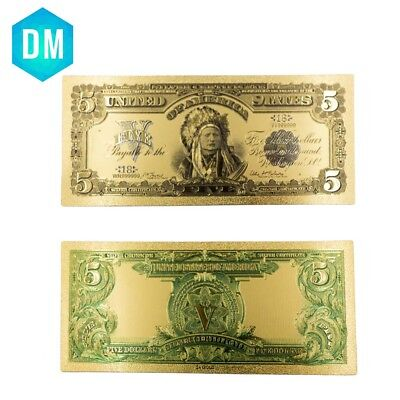 home decorative american paper money 5 dollar 1899 year US banknote collections