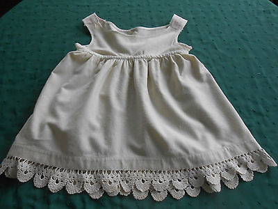 Child's Wool Slip With Fantastic Hand Crochet Lace Trim, Early 20Th. Century
