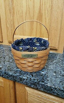 Longaberger 1992 Discovery Basket AND LINER