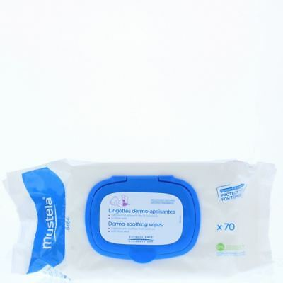 Mustela Dermo-Soothing Wipes - 70 Wipes With Aloe Vera
